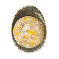 Sweet corn chicken soup with egg