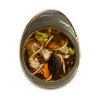 Chicken noodle soup with Shiitake mushrooms